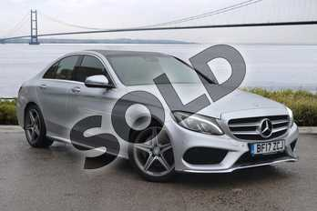 Mercedes-Benz C Class C220d AMG Line Premium 4dr Auto in Iridium Silver Metallic at Mercedes-Benz of Hull
