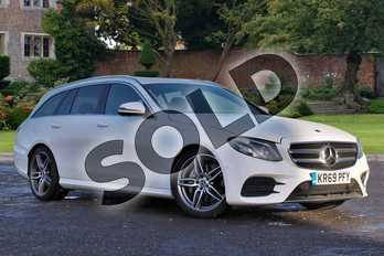 Mercedes-Benz E Class E220d AMG Line 5dr 9G-Tronic in Polar White at Mercedes-Benz of Lincoln
