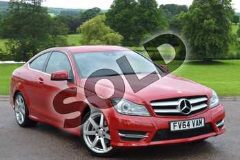 Mercedes-Benz C Class C180 AMG Sport Edition 2dr Auto in Fire opal at Mercedes-Benz of Grimsby