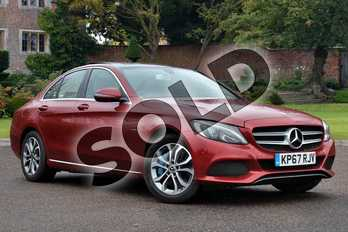 Mercedes-Benz C Class C350e Sport 4dr Auto in designo Hyacinth Red Metallic at Mercedes-Benz of Lincoln
