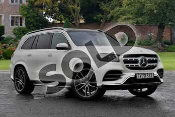 Mercedes-Benz GLS GLS 400d 4Matic AMG Line Prem + Exec 5dr 9G-Tronic in designo diamond white bright at Mercedes-Benz of Lincoln