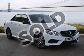 Mercedes-Benz E Class E220 BlueTEC AMG Night Edition 4dr 7G-Tronic in Polar White at Mercedes-Benz of Hull
