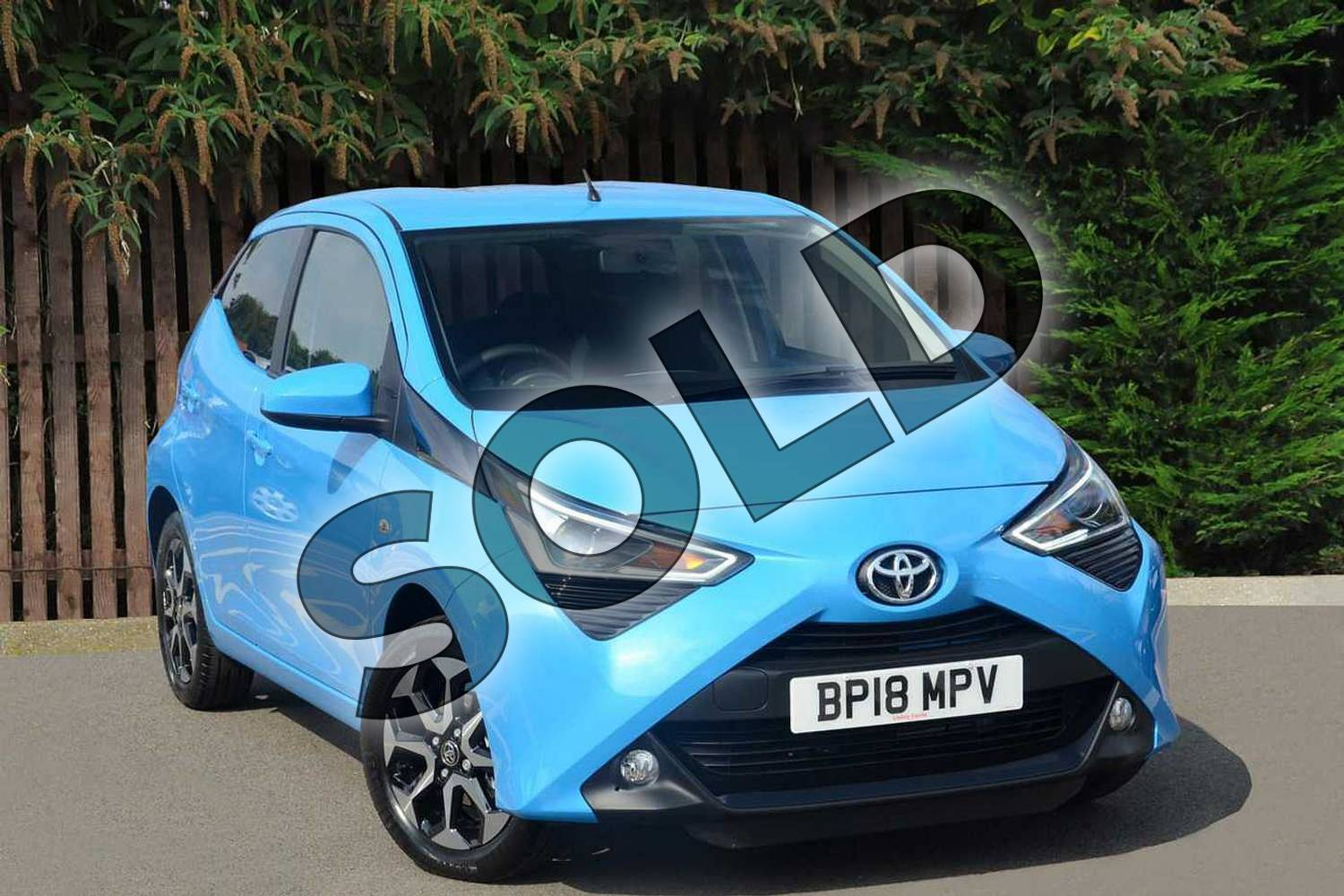 2018 Toyota Aygo Hatchback 1.0 VVT-i X-Plore 5dr in Cyan Splash at Listers Toyota Coventry