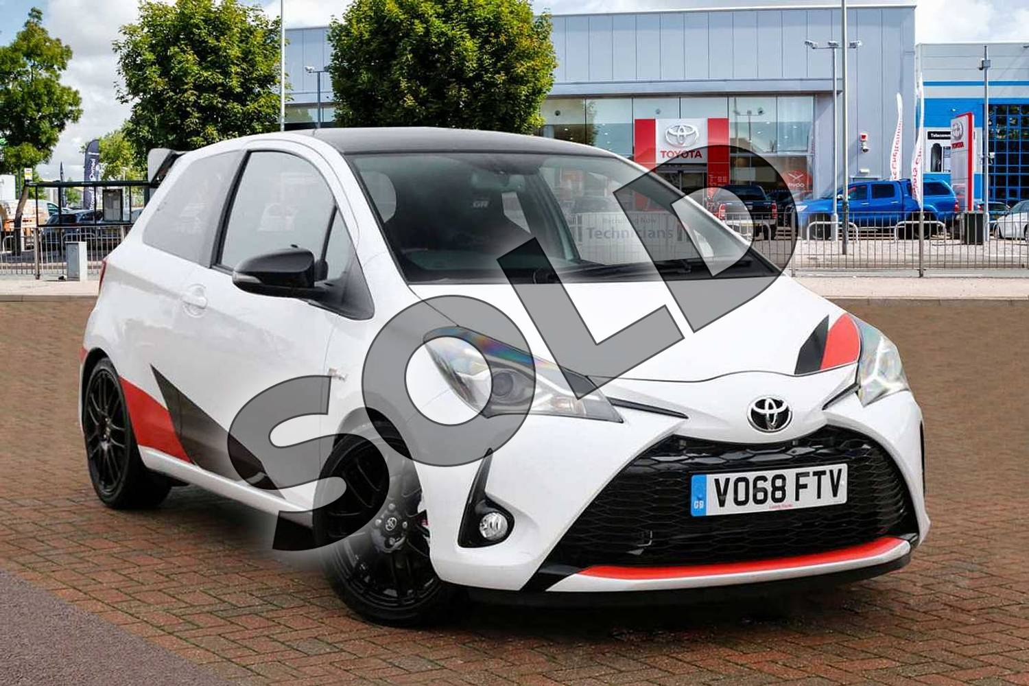 2018 Toyota Yaris Hatchback Special Editions Special Editions 1.8 Supercharged GRMN Edition 3dr in White/Black at Listers Toyota Cheltenham