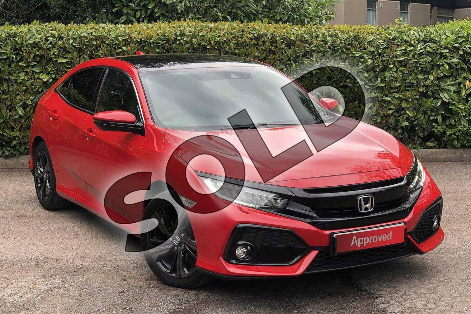 2018 Honda Civic Diesel Hatchback Diesel 1.6 i-DTEC EX 5dr Auto  in Rallye Red  at Listers Honda Coventry