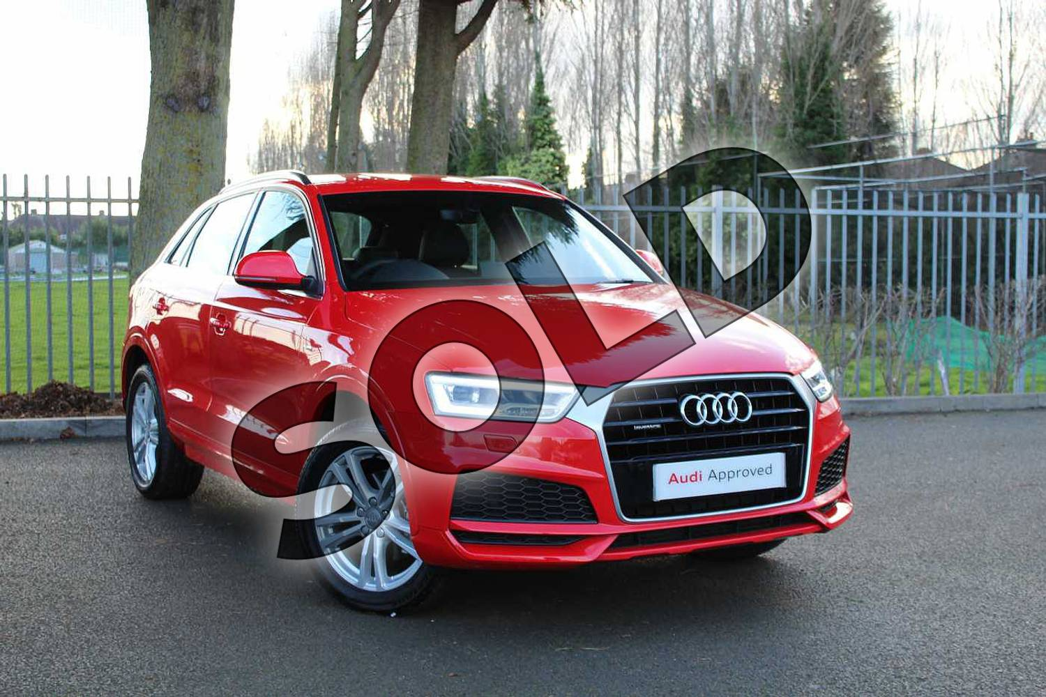 2018 Audi Q3 Estate Special Editions Special Editions 2.0 TDI Quattro S Line Edition 5dr in Misano Red Pearlescent at Coventry Audi