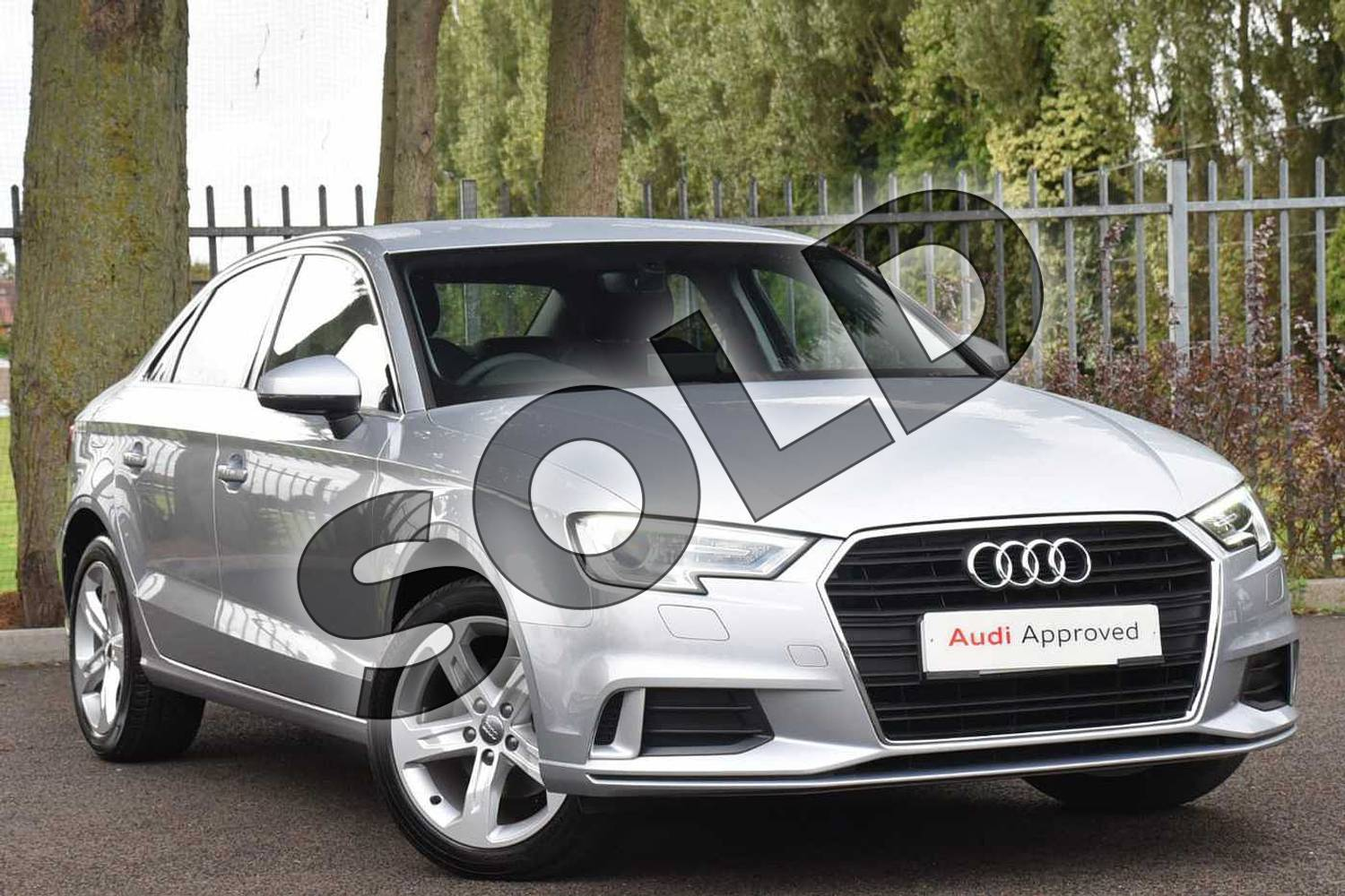 2018 Audi A3 Diesel Saloon Diesel 2.0 TDI Sport 4dr S Tronic (7 Speed) in Floret Silver Metallic at Coventry Audi