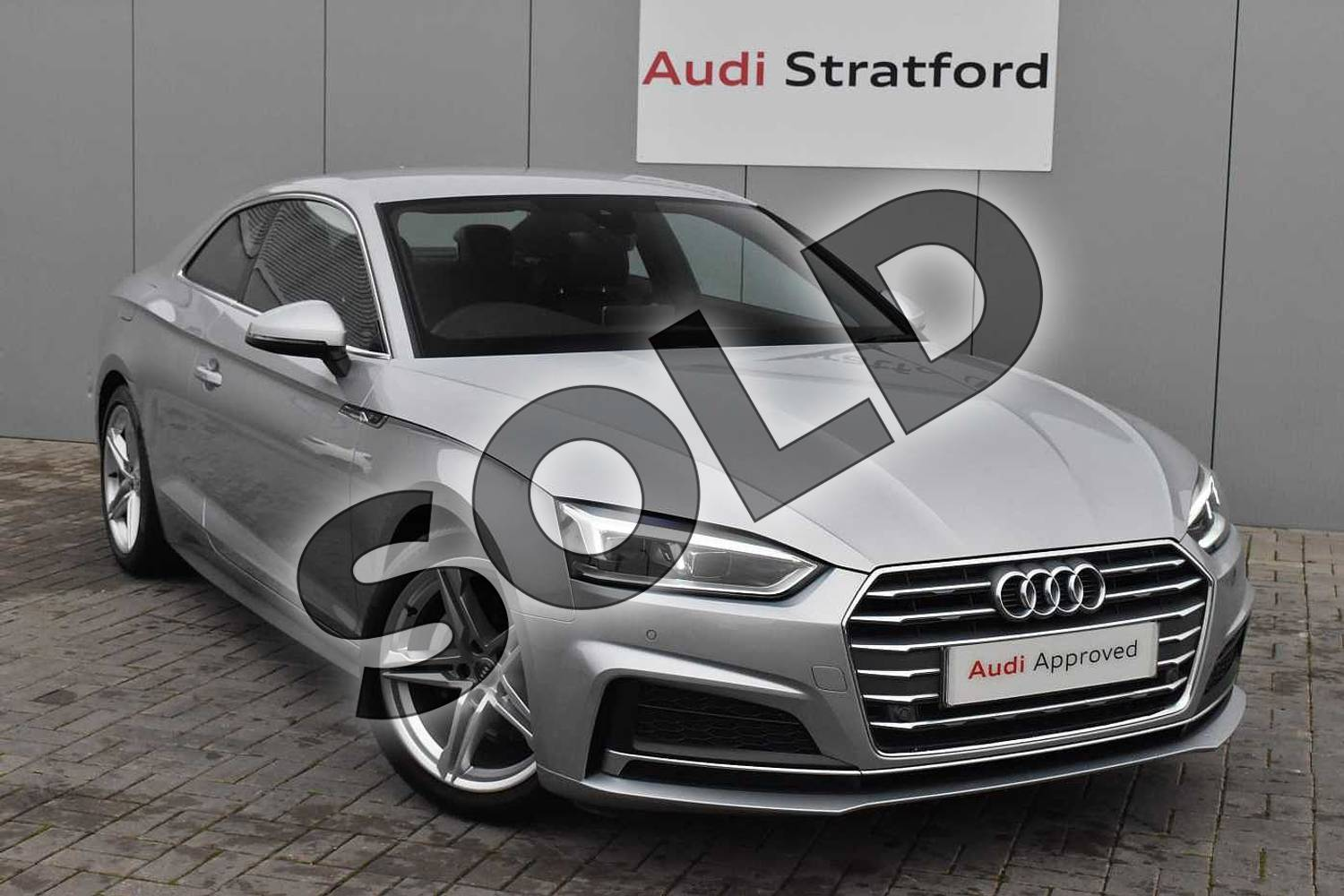2018 Audi A5 Diesel Coupe Diesel 2.0 TDI S Line 2dr S Tronic in Floret Silver Metallic at Coventry Audi