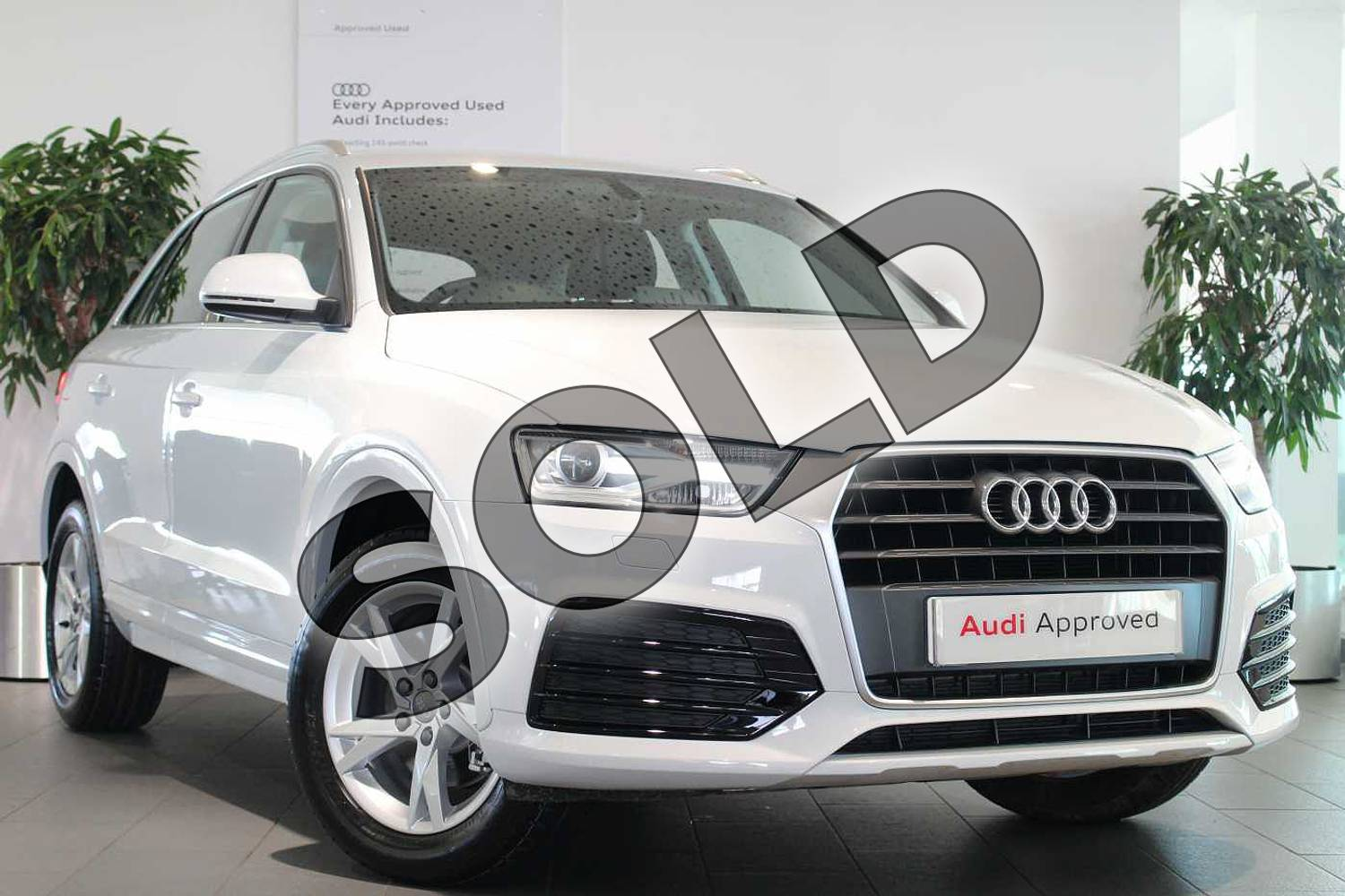 2018 Audi Q3 Estate 1.4T FSI Sport 5dr S Tronic in Glacier White Metallic at Birmingham Audi