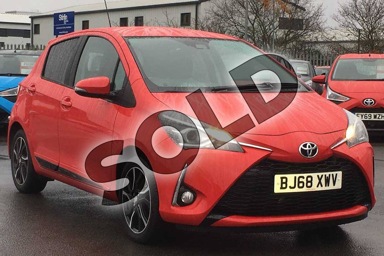 2018 Toyota Yaris Hatchback 1.5 VVT-i Design 5dr in Chilli Red at Listers Toyota Coventry