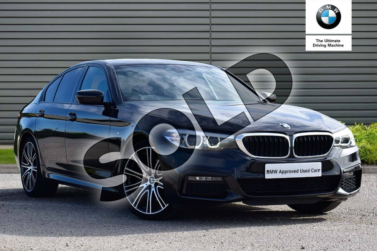 2018 BMW 5 Series Saloon 530i M Sport 4dr Auto in Black Sapphire metallic paint at Listers Boston (BMW)