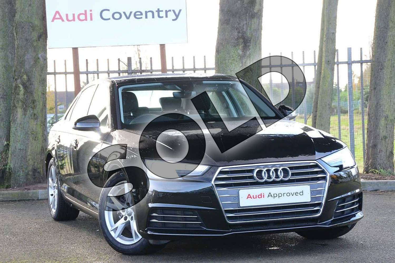 2018 Audi A4 Diesel Saloon Diesel 2.0 TDI Ultra SE 4dr in Myth Black Metallic at Stratford Audi