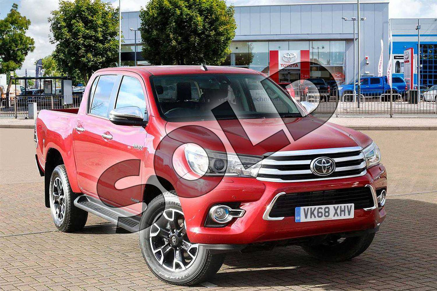 2018 Toyota Hilux Diesel Diesel Invincible X D/Cab Pick Up 2.4 D-4D Auto in Crimson Red at Listers Toyota Cheltenham