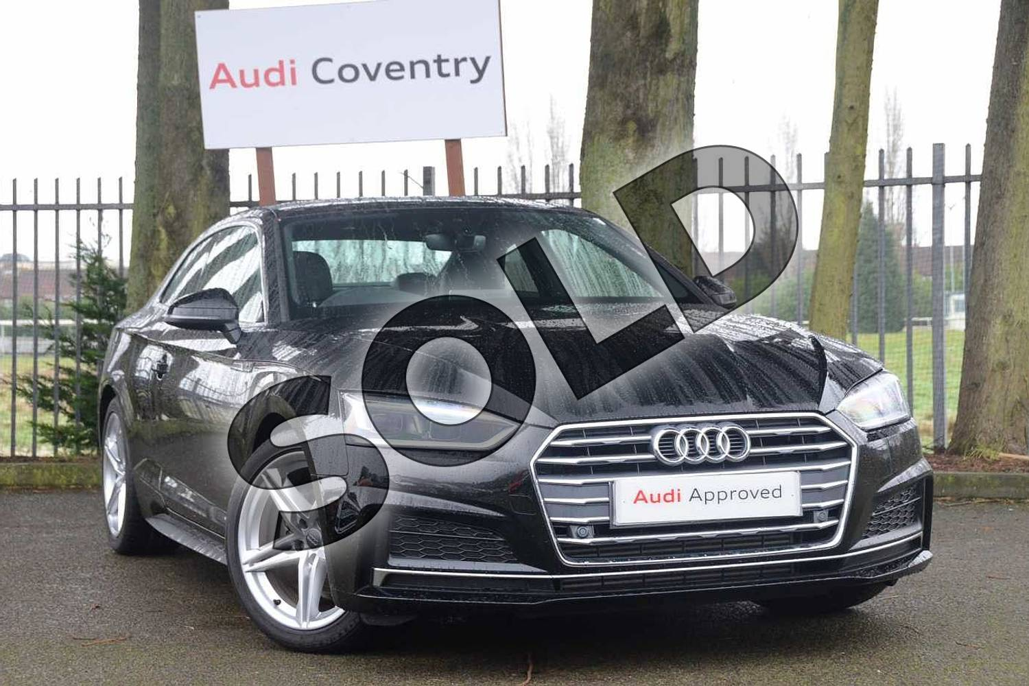 2018 Audi A5 Coupe 2.0 TFSI S Line 2dr S Tronic in Myth Black Metallic at Stratford Audi
