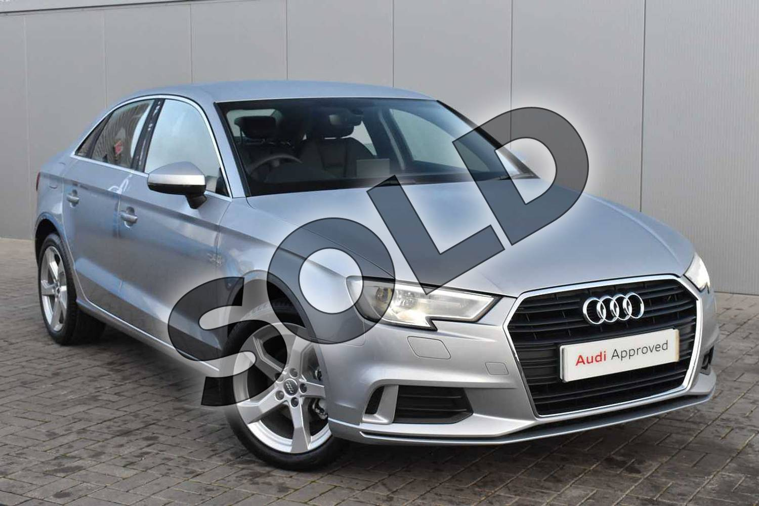 2018 Audi A3 Saloon 30 TFSI Sport 4dr S Tronic in Floret Silver Metallic at Stratford Audi