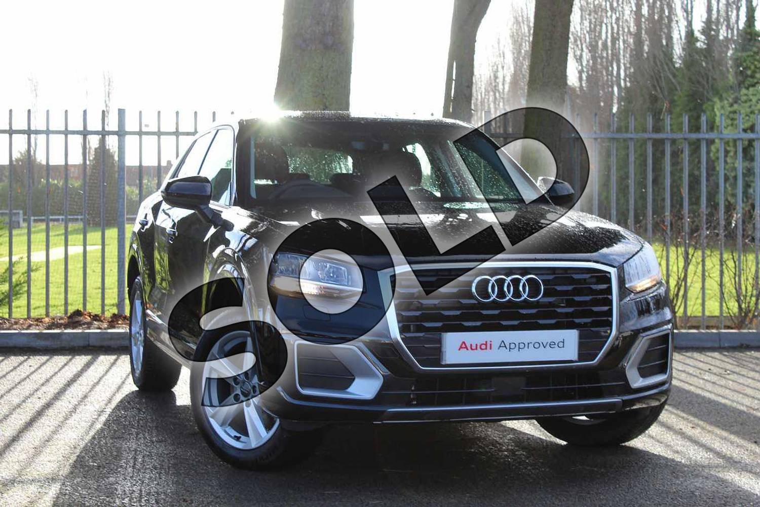 2018 Audi Q2 Estate 30 TFSI Sport 5dr S Tronic in Myth Black Metallic at Coventry Audi