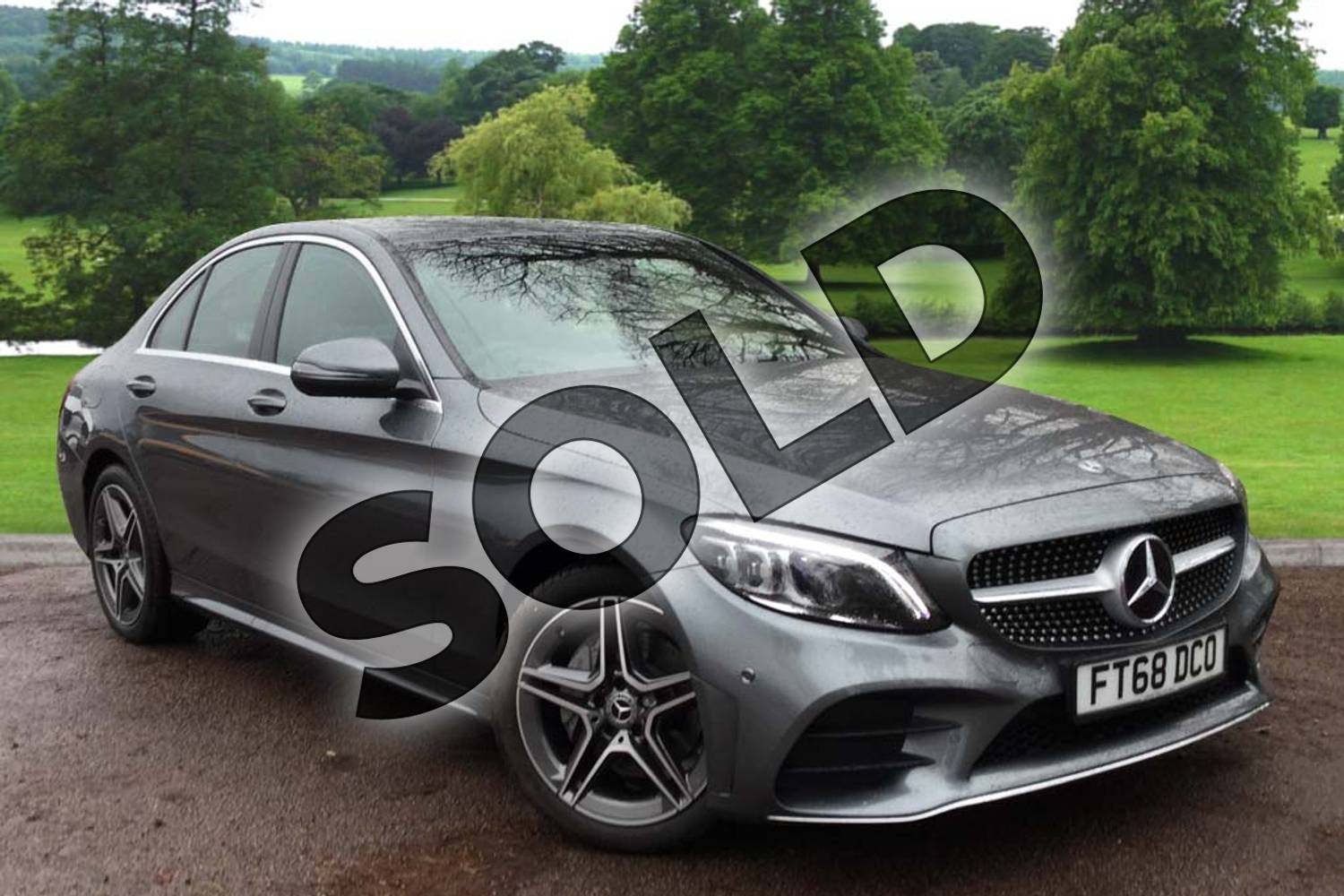 2018 Mercedes-Benz C Class Saloon C200 AMG Line Premium 4dr 9G-Tronic in selenite grey metallic at Mercedes-Benz of Grimsby