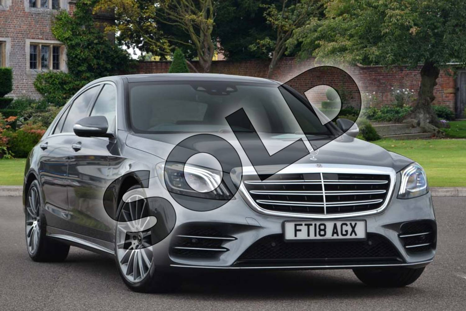 2018 Mercedes-Benz S Class Diesel Saloon Diesel S350d L AMG Line Premium 4dr 9G-Tronic in Selenite Grey metallic at Mercedes-Benz of Lincoln