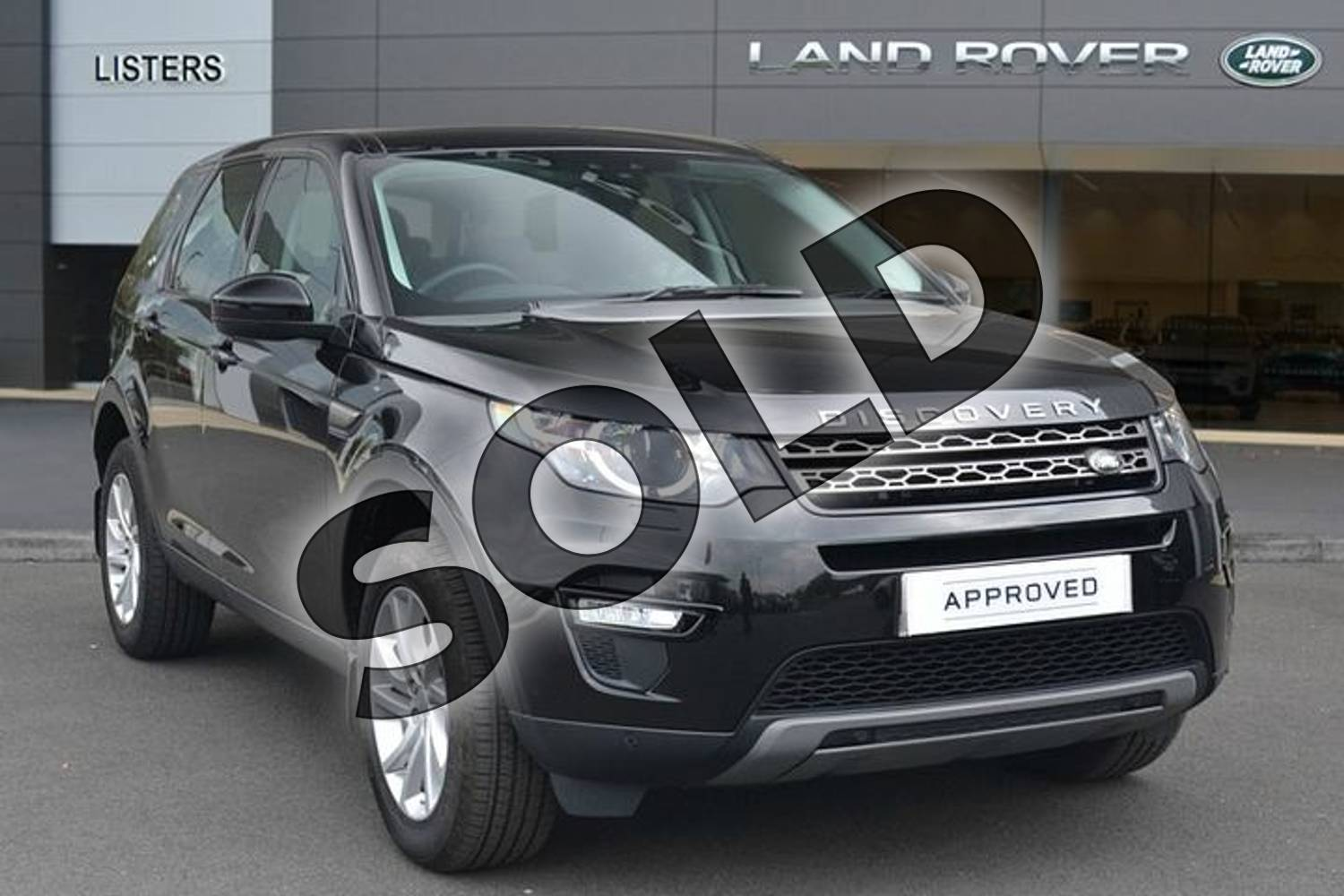 2018 Land Rover Discovery Sport Diesel SW Diesel SW 2.0 TD4 180 SE Tech 5dr Auto in Santorini Black at Listers Land Rover Hereford