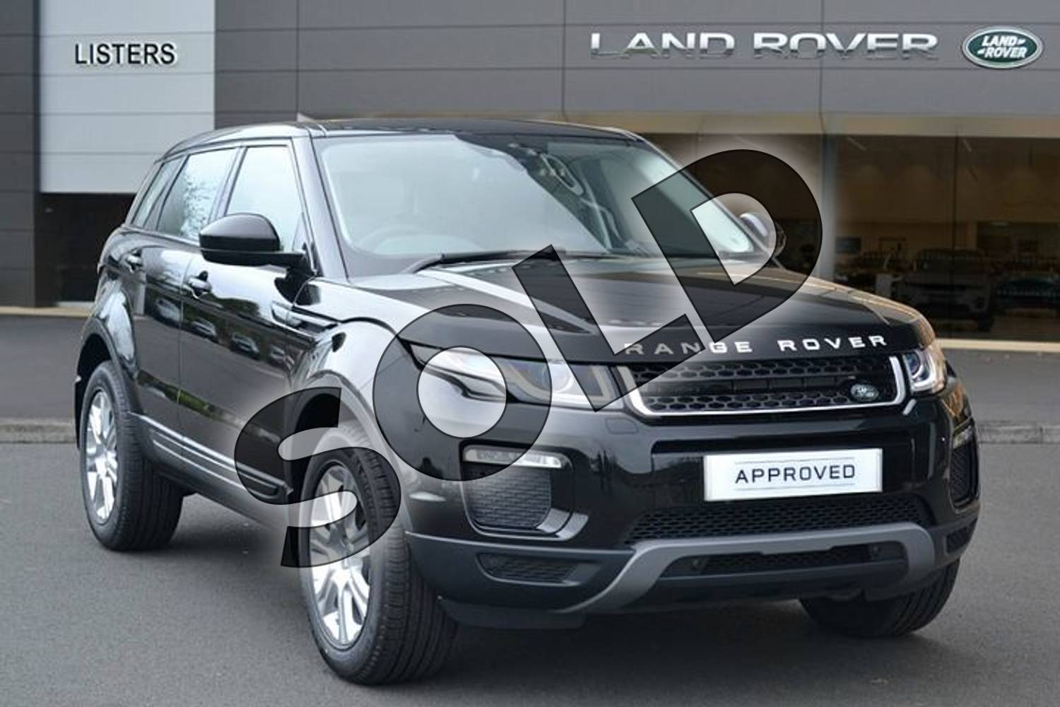 2018 Range Rover Evoque Diesel Hatchback Diesel 2.0 TD4 SE Tech 5dr Auto in Santorini Black at Listers Land Rover Hereford