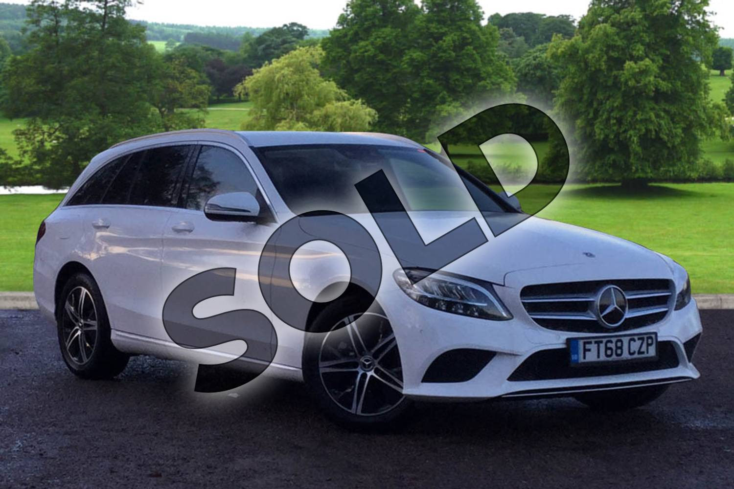 2018 Mercedes-Benz C Class Estate C200 Sport 5dr 9G-Tronic in polar white at Mercedes-Benz of Grimsby
