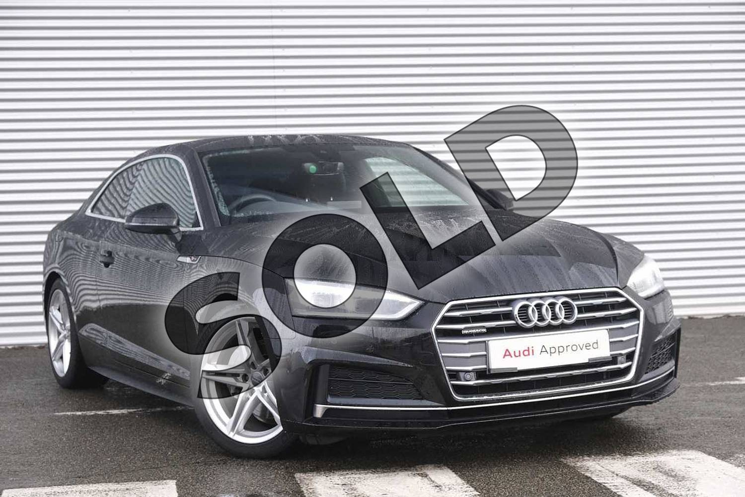 2018 Audi A5 Diesel Coupe Diesel 2.0 TDI Quattro S Line 2dr S Tronic in Myth Black Metallic at Coventry Audi