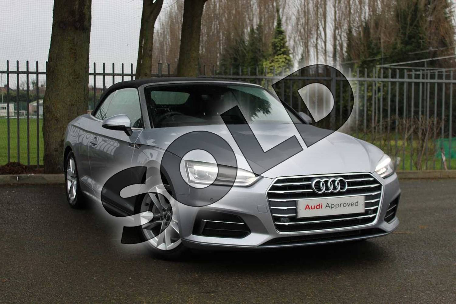 2018 Audi A5 Diesel Cabriolet Diesel 2.0 TDI Sport 2dr S Tronic in Floret Silver Metallic at Coventry Audi