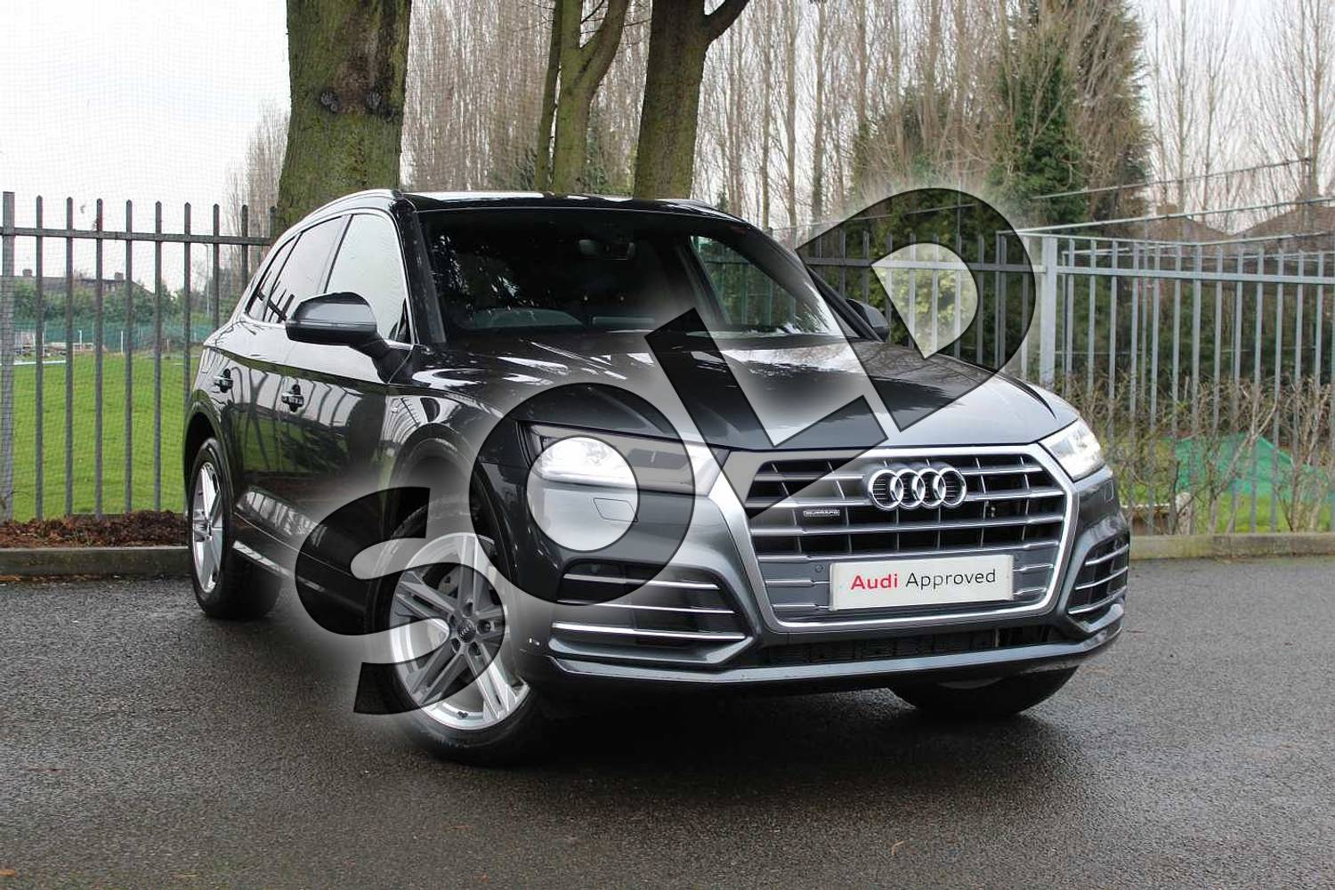 2018 Audi Q5 Diesel Estate Diesel 40 TDI Quattro S Line 5dr S Tronic in Daytona Grey Pearlescent at Coventry Audi