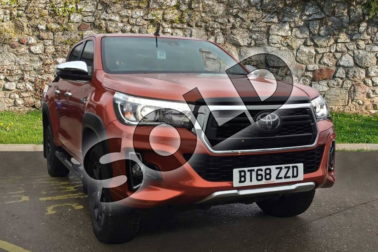2019 Toyota Hilux Special Editions Special Editions Invincible X Ltd Edn D/Cab Pick Up 2.4 D-4D Auto in scorched orange at Listers Toyota Coventry
