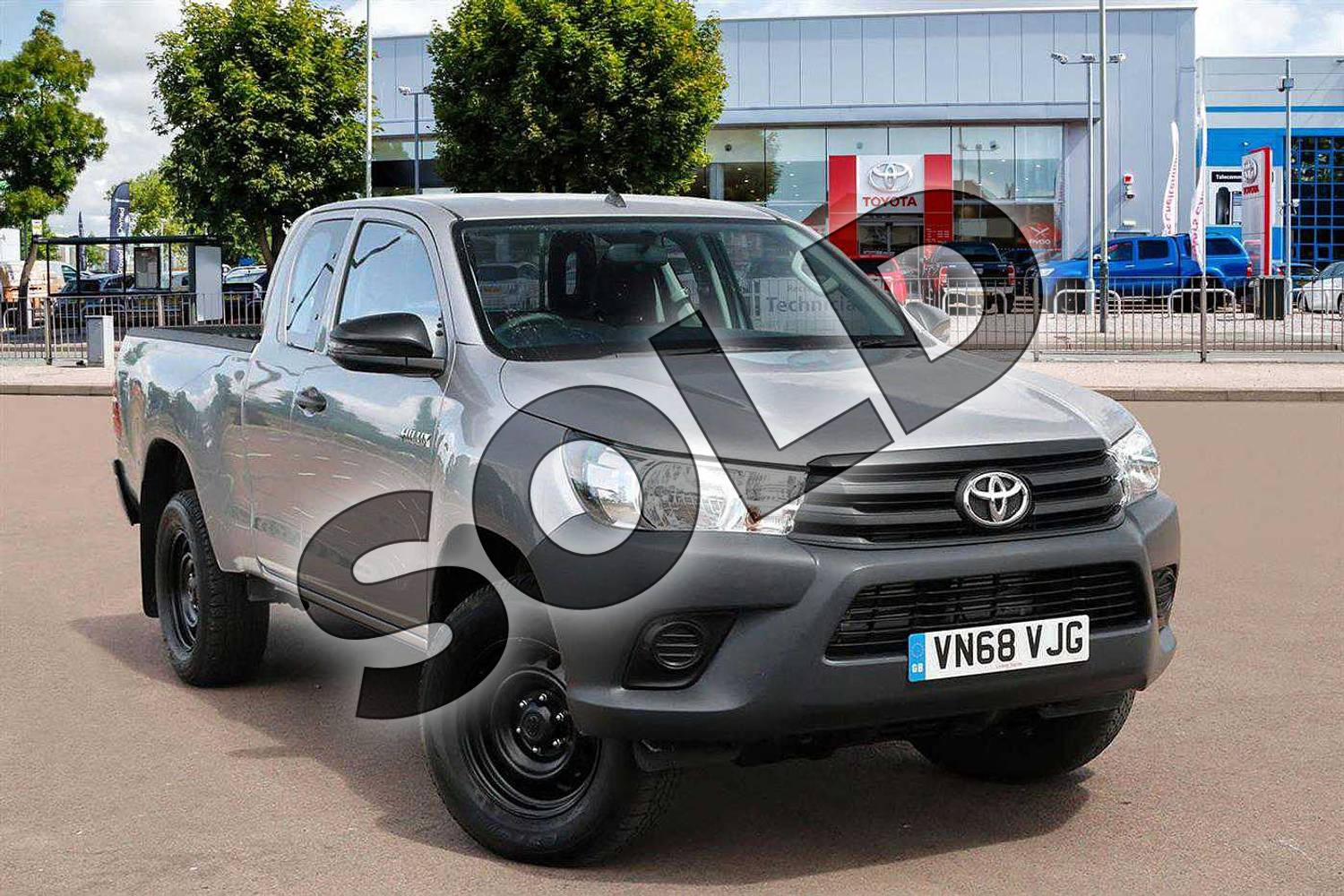 2019 Toyota Hilux Diesel Active Extra Cab Pick Up 2.4 D-4D in Silver Blade at Listers Toyota Cheltenham