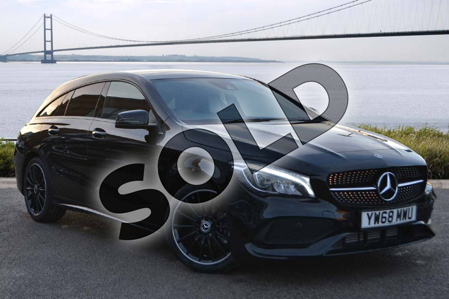 2019 Mercedes-Benz CLA Class Shooting Brake CLA 200 AMG Line Night Edition Plus 5dr Tip Auto in Cosmos Black Metallic at Mercedes-Benz of Hull