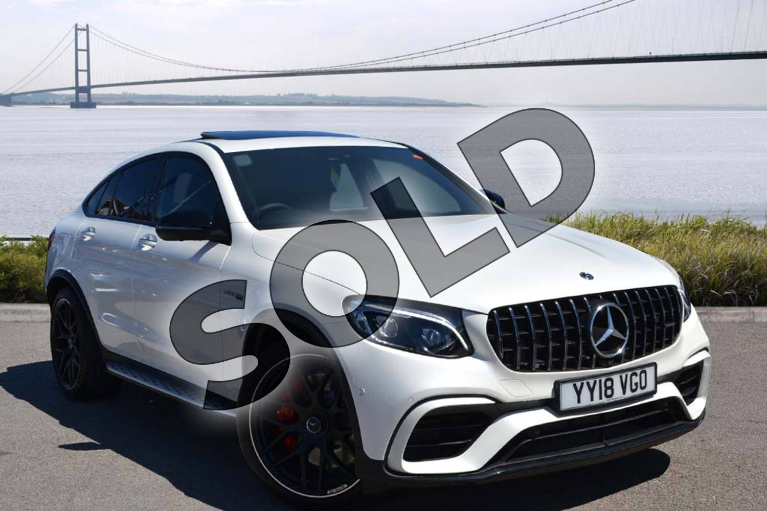 2018 Mercedes-Benz GLC AMG Coupe GLC AMG GLC 63 S 4Matic Premium 5dr 9G-Tronic in designo diamond white bright at Mercedes-Benz of Hull