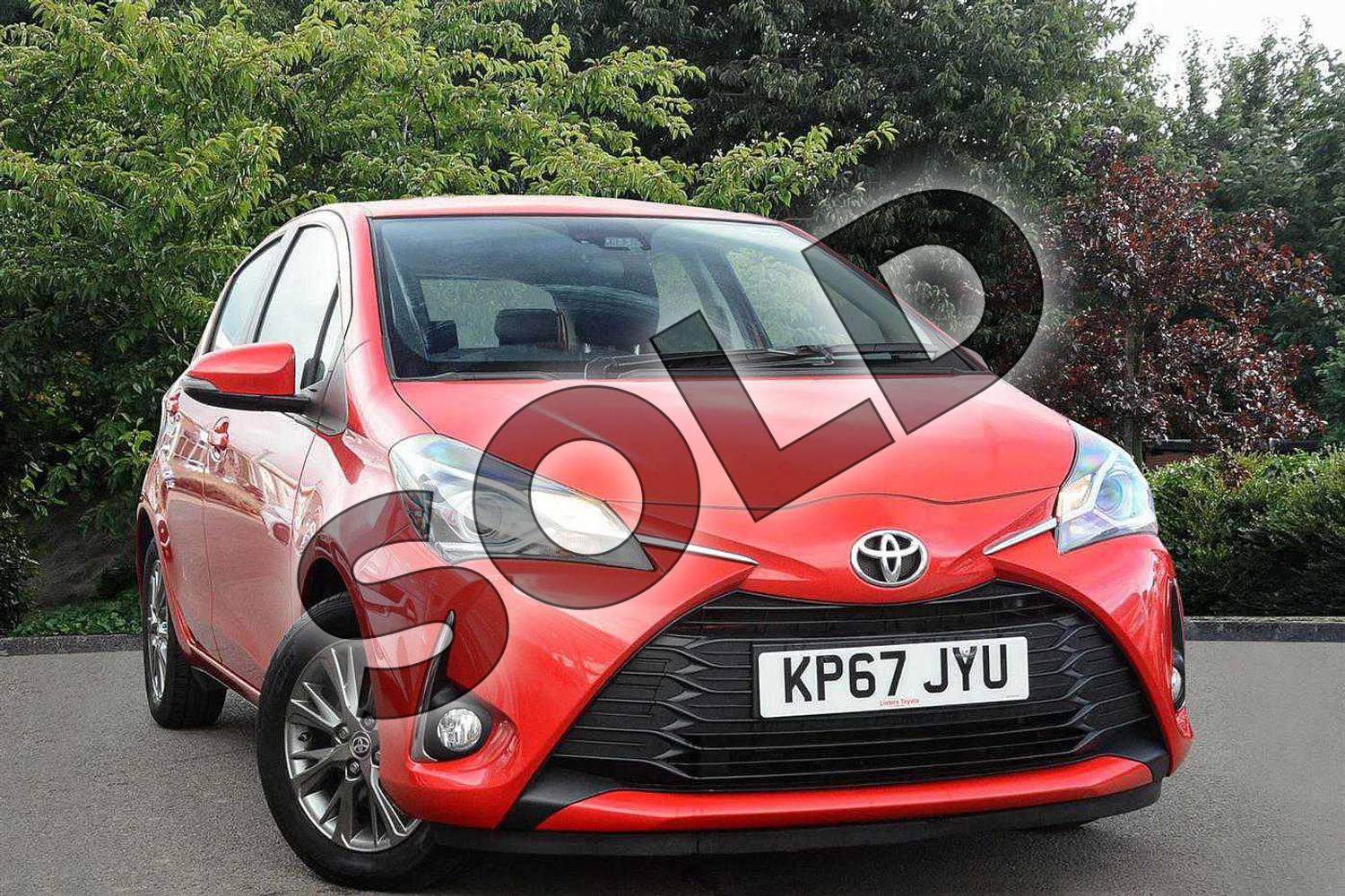 2017 Toyota Yaris Hatchback 1.5 VVT-i Icon 5dr in Red at Listers Toyota Nuneaton
