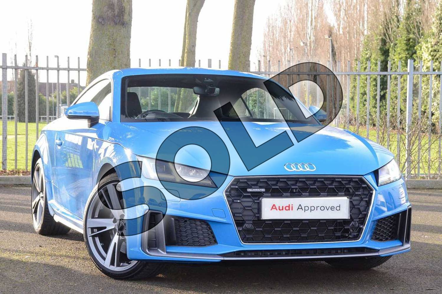 2019 Audi TT Coupe 45 TFSI Quattro S Line 2dr S Tronic in Turbo Blue at Coventry Audi