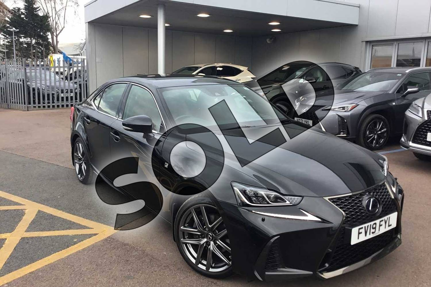 2019 Lexus IS Saloon 300h F-Sport 4dr CVT Auto (Navigation) in Graphite Black at Lexus Lincoln