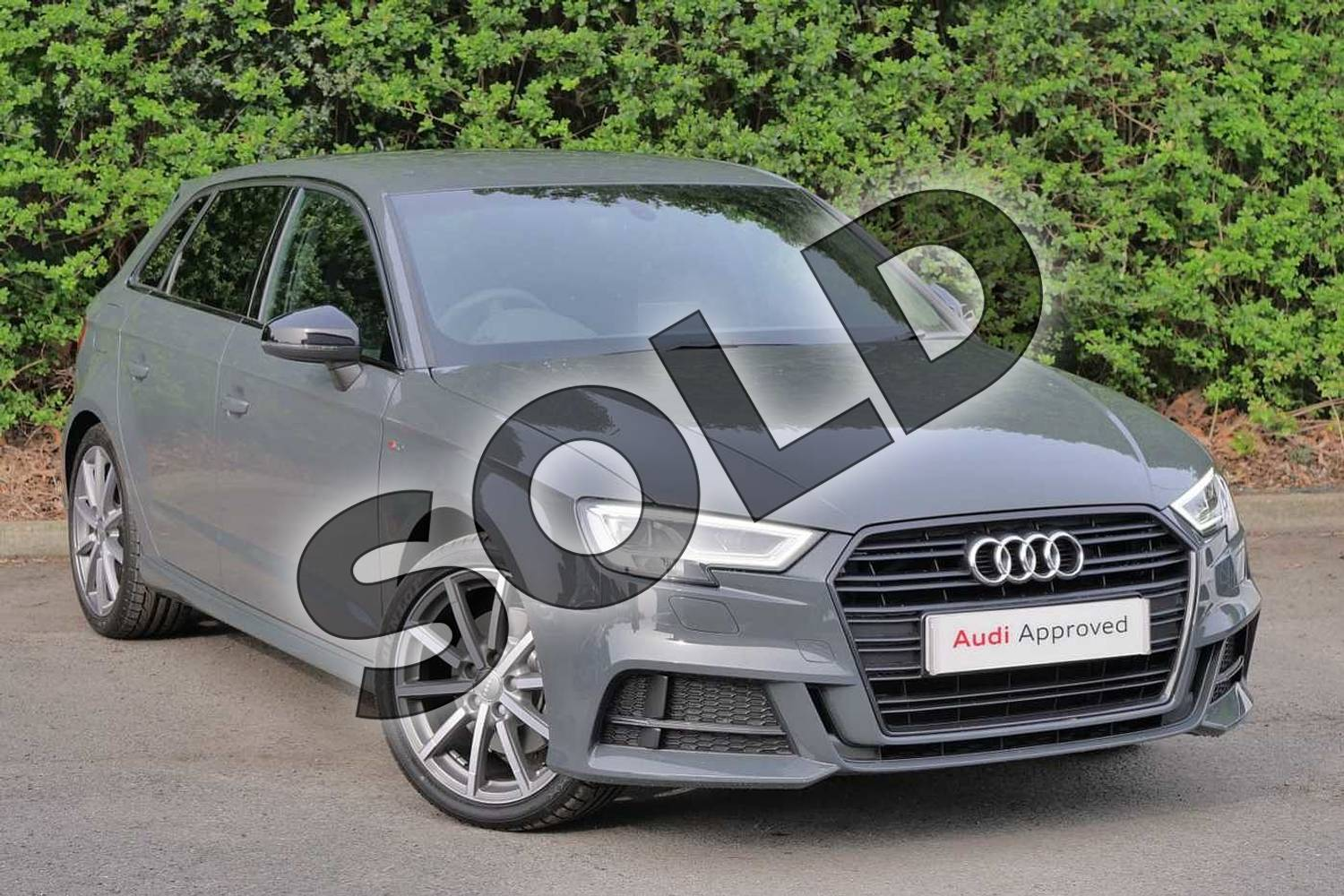 2019 Audi A3 Diesel Sportback Diesel 35 TDI Black Edition 5dr S Tronic in Nano Grey Metallic at Worcester Audi
