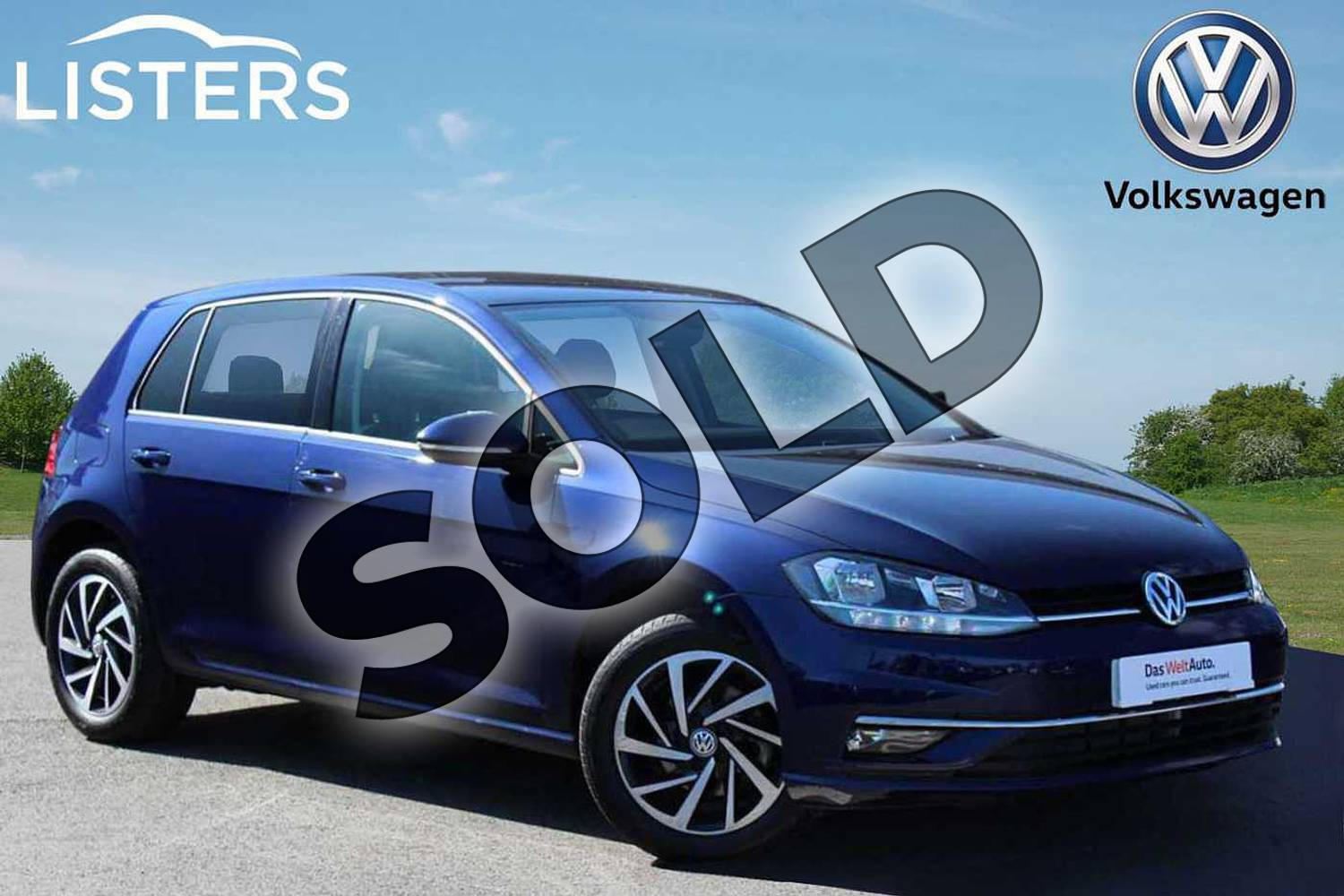 2019 Volkswagen Golf Hatchback 1.0 TSI 115 Match 5dr DSG in Atlantic Blue at Listers Volkswagen Nuneaton