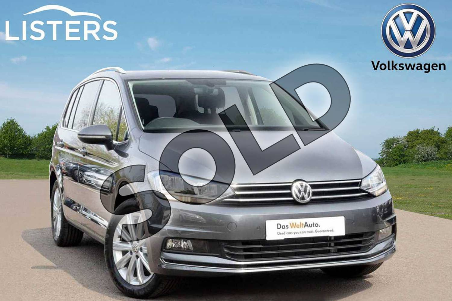 2019 Volkswagen Touran Estate 1.5 TSI EVO SEL 5dr DSG in Indium Grey at Listers Volkswagen Leamington Spa