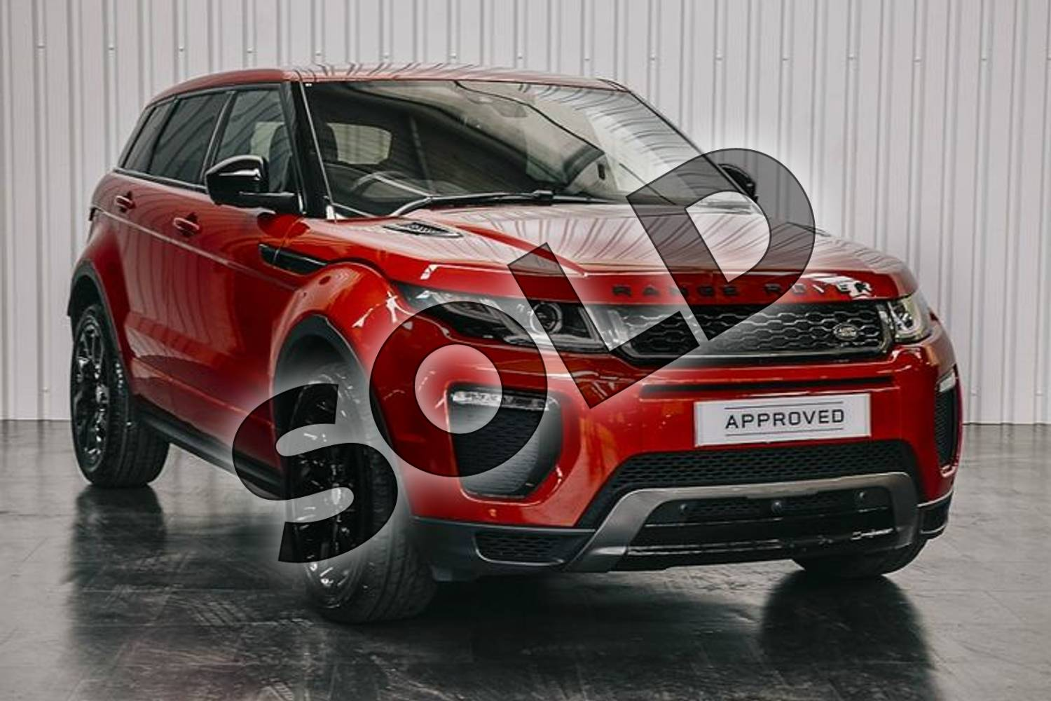 2019 Range Rover Evoque Diesel Hatchback Diesel 2.0 TD4 HSE Dynamic Lux 5dr Auto in Firenze Red at Listers Land Rover Solihull