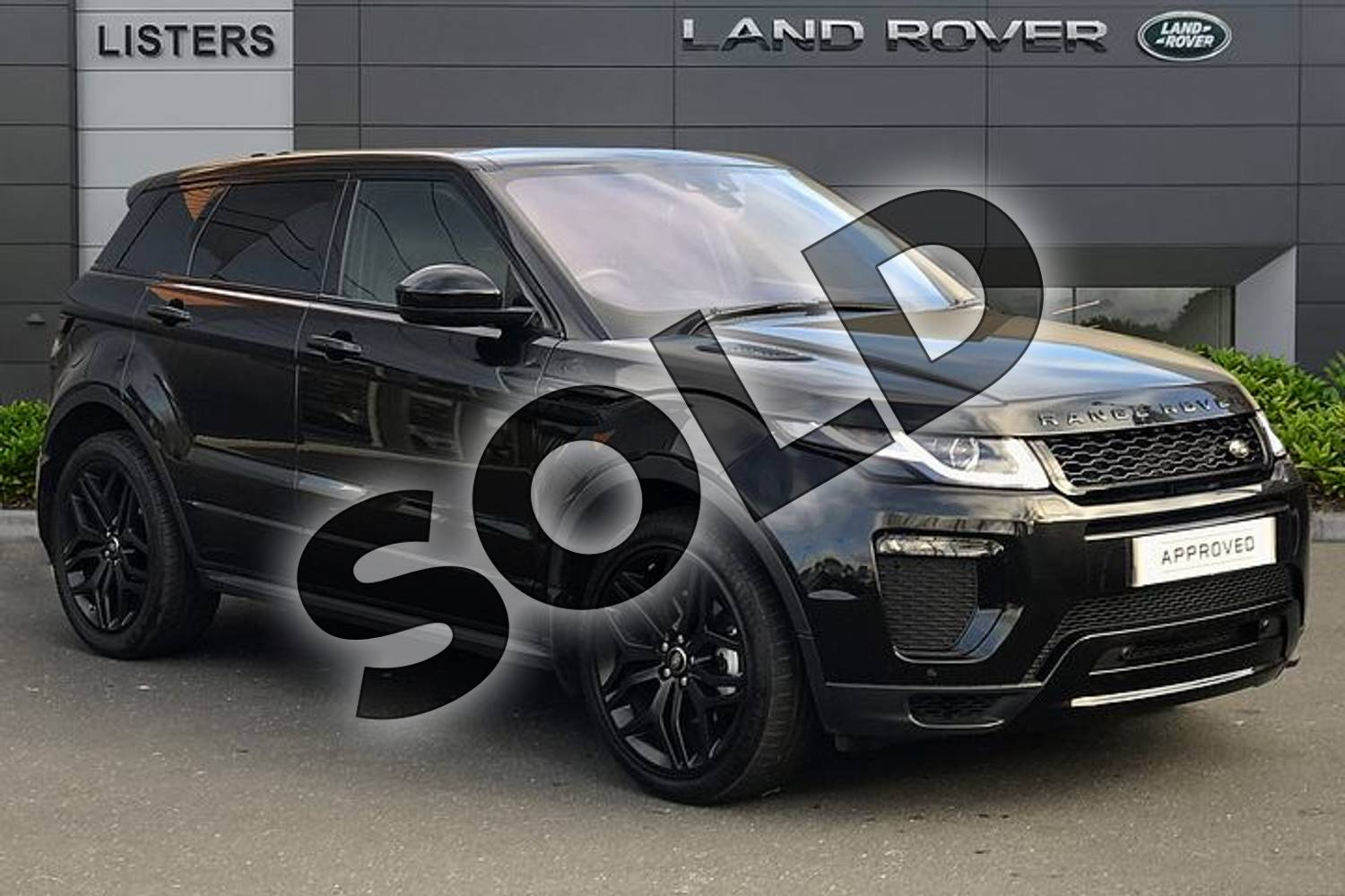 2018 Range Rover Evoque Diesel Hatchback Diesel 2.0 TD4 HSE Dynamic 5dr Auto in Santorini Black at Listers Land Rover Droitwich