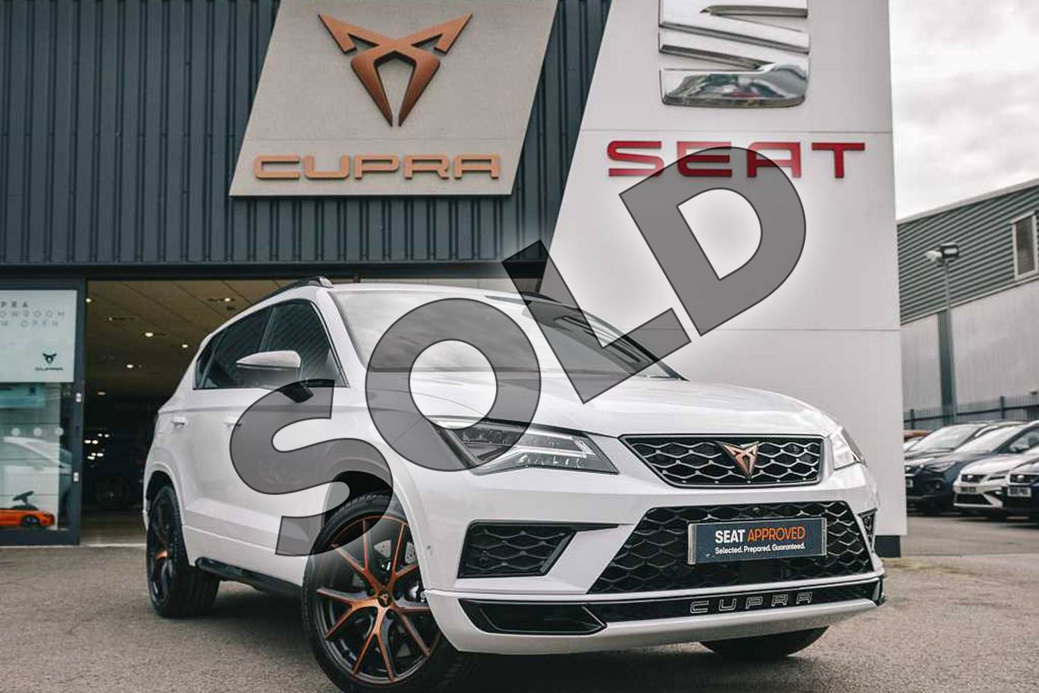 2019 CUPRA Ateca Estate 2.0 TSI 5dr DSG 4Drive (Design pack) in White at Listers SEAT Coventry