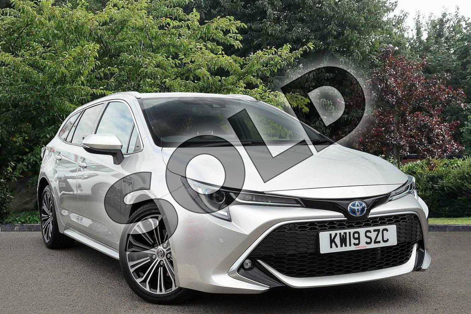 2019 Toyota Corolla Touring Sport Touring Sport 1.8 VVT-i Hybrid Excel 5dr CVT in Silver at Listers Toyota Nuneaton