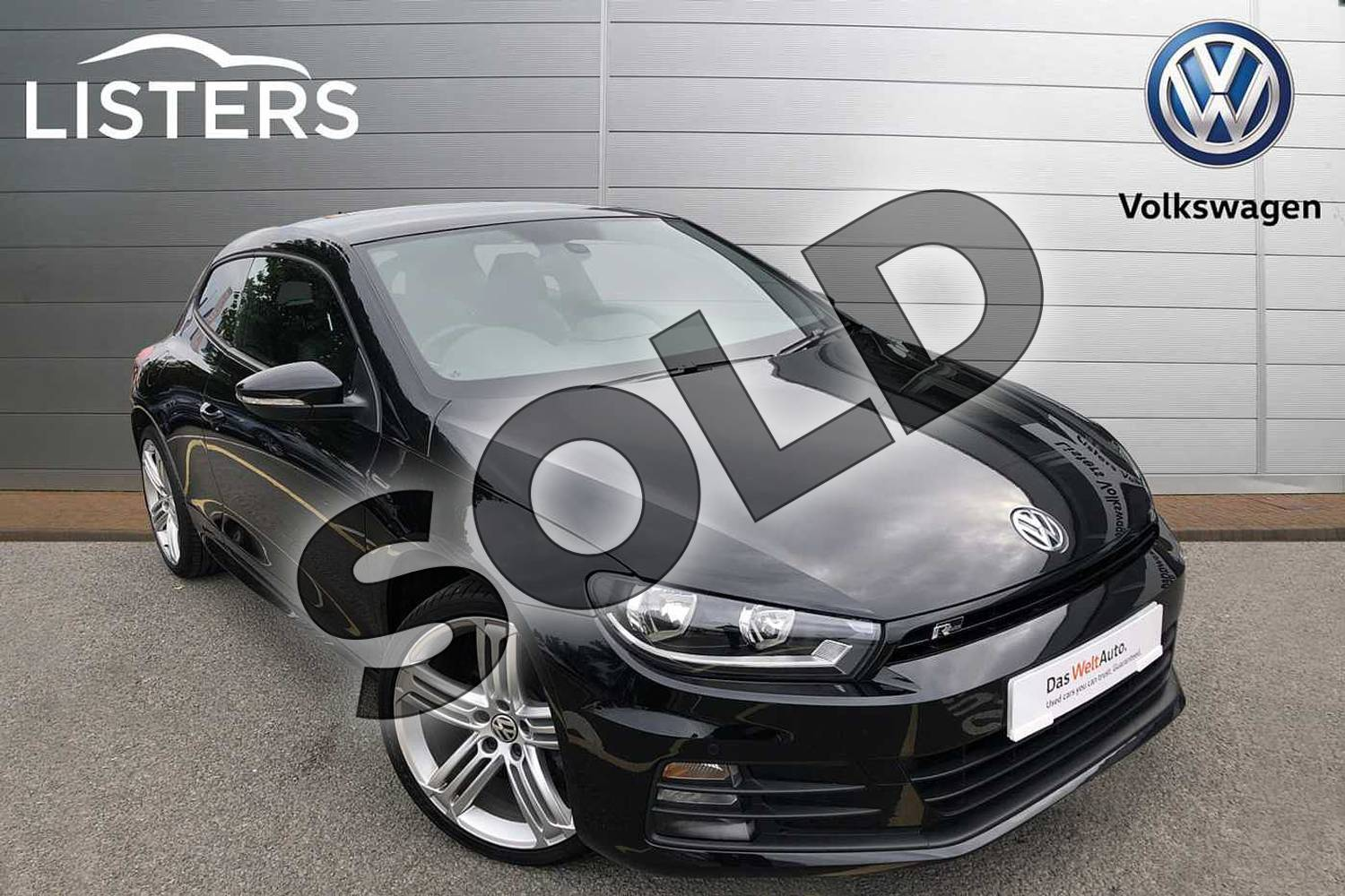 2017 Volkswagen Scirocco Diesel Coupe Diesel 2.0 TDI BlueMotion Tech R Line 3dr in Deep black at Listers Volkswagen Coventry