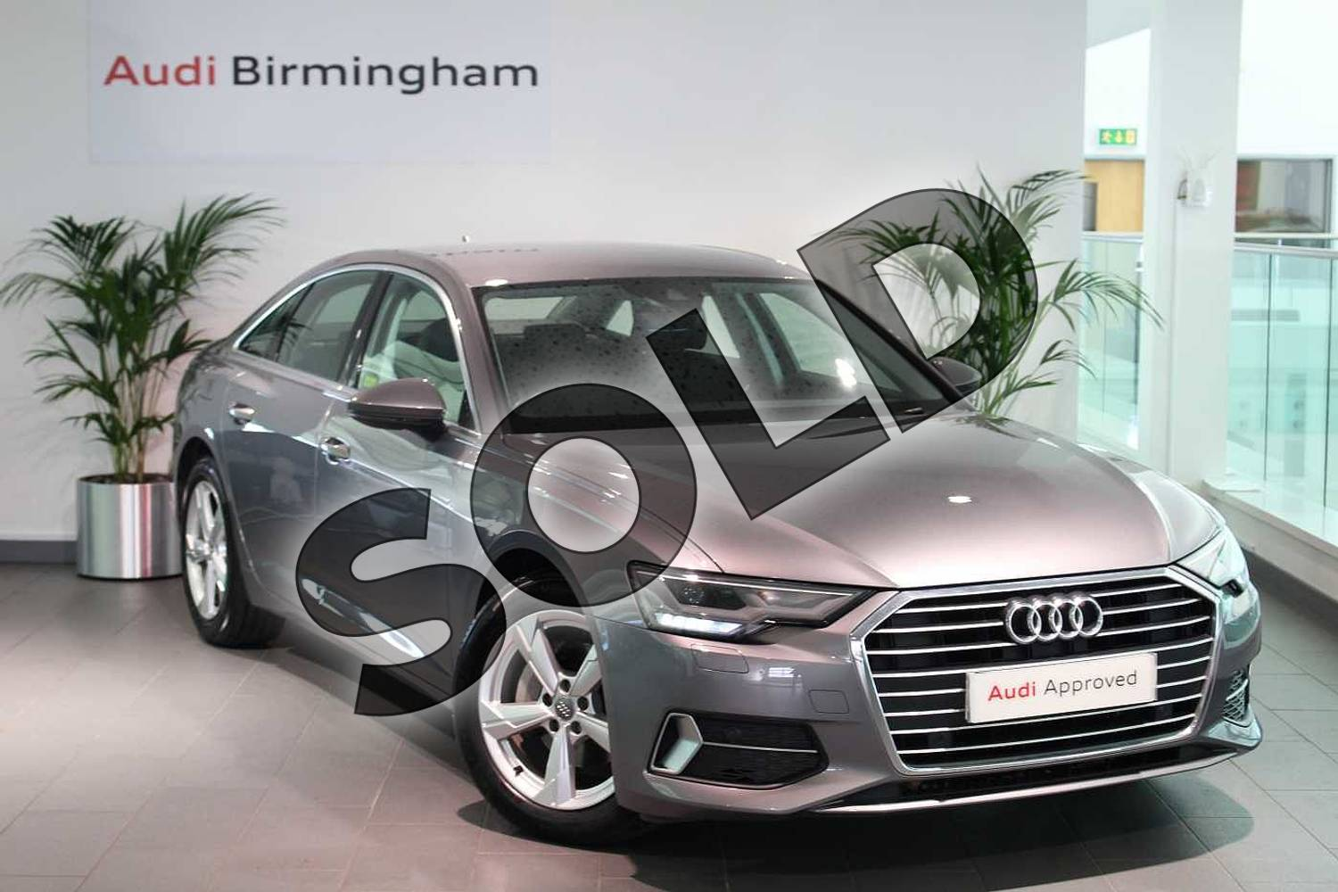 2019 Audi A6 Diesel Saloon 40 TDI Sport 4dr S Tronic in Typhoon Grey Metallic at Coventry Audi