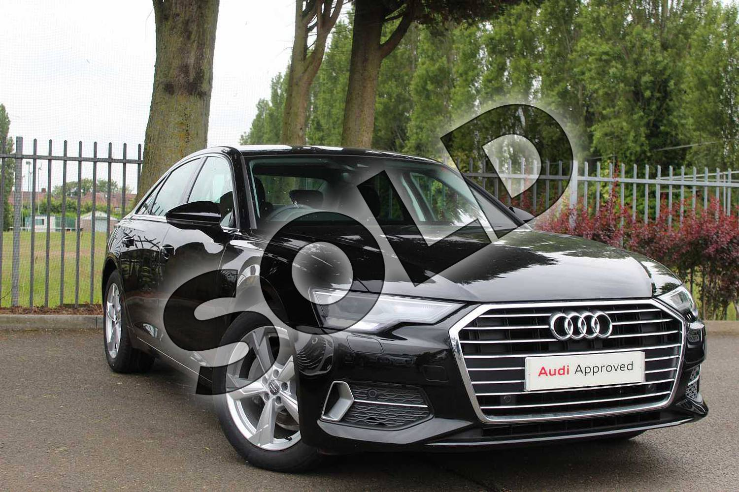 2019 Audi A6 Diesel Saloon Diesel 40 TDI Sport 4dr S Tronic in Myth Black Metallic at Coventry Audi