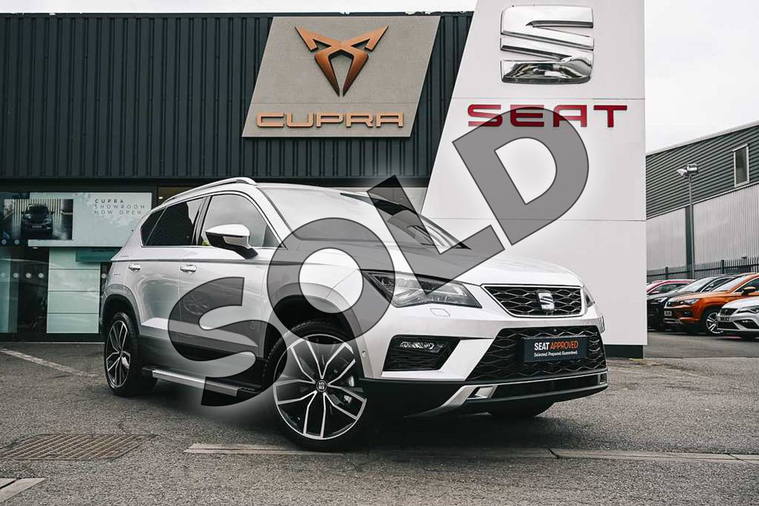 2019 SEAT Ateca Estate 1.5 TSI EVO Xcellence Lux (EZ) 5dr in Reflex silver at Listers SEAT Coventry