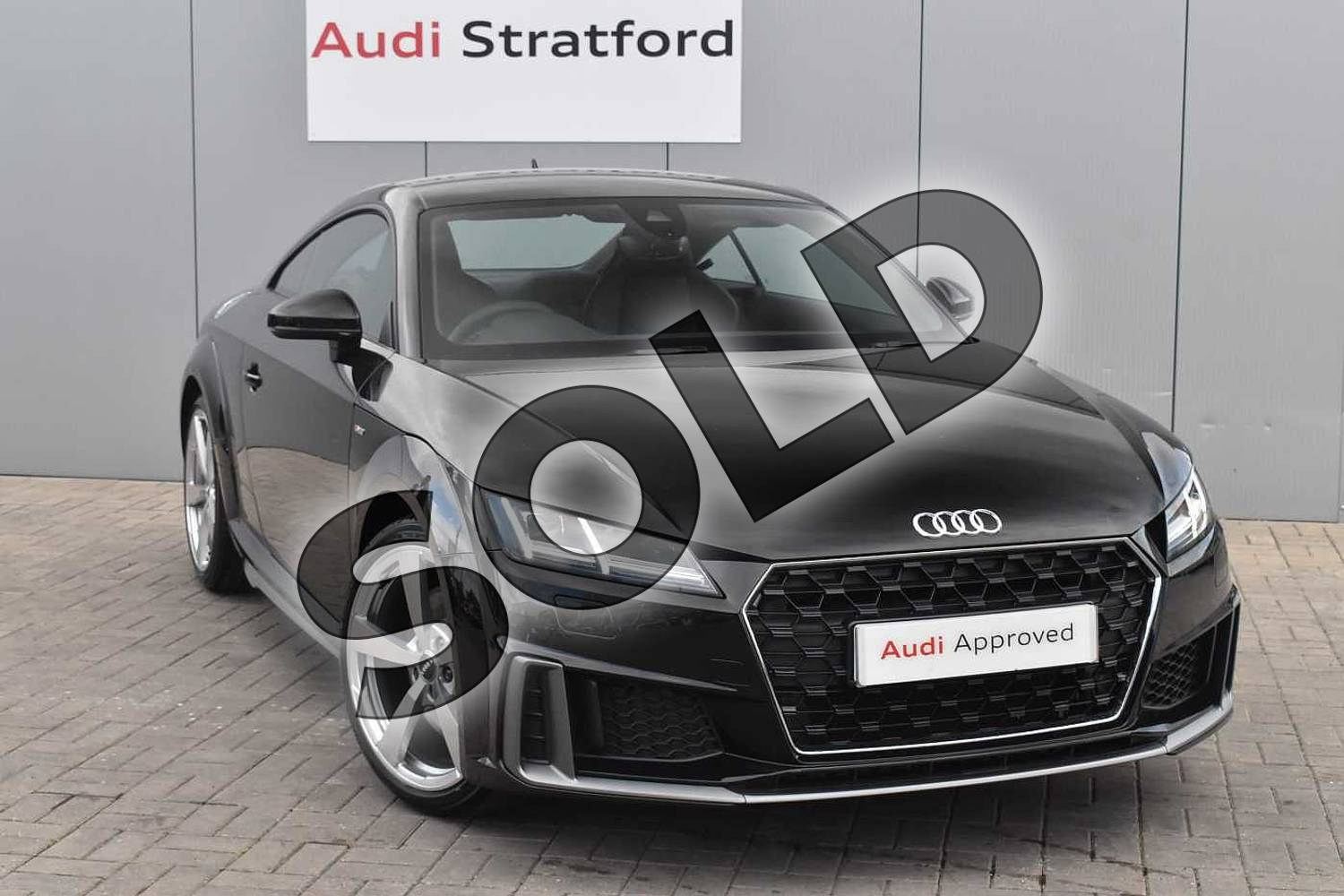 2019 Audi TT Coupe 45 TFSI S Line 2dr S Tronic in Myth Black Metallic at Stratford Audi