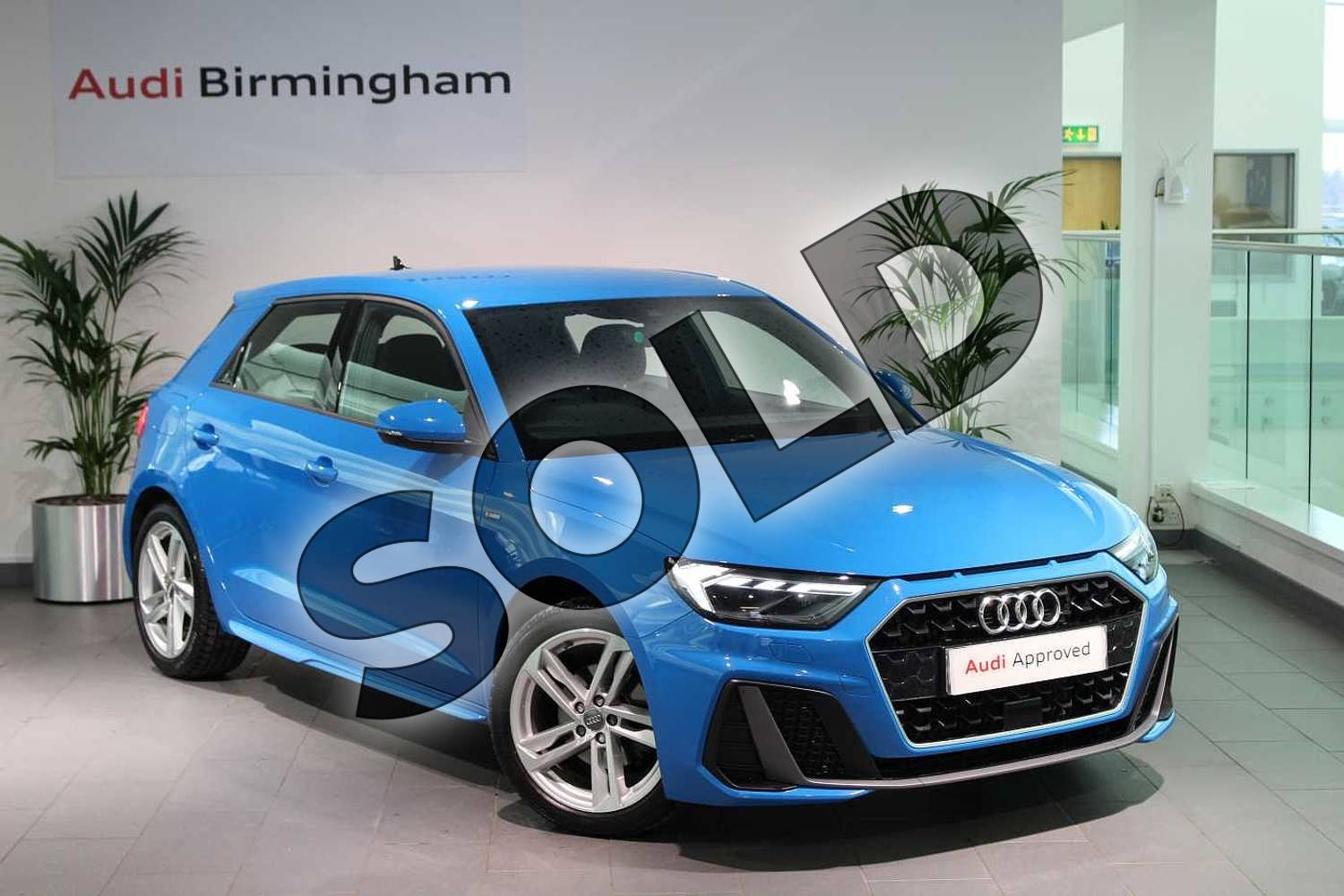 2019 Audi A1 Sportback 35 TFSI S Line 5dr in Turbo Blue at Coventry Audi