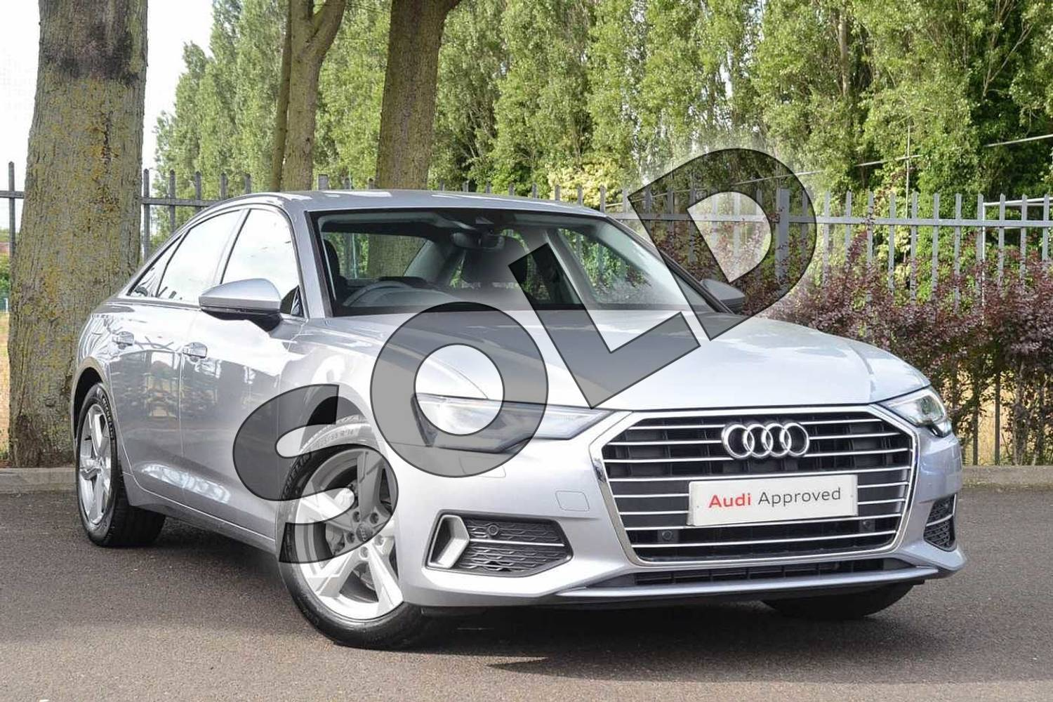 2019 Audi A6 Diesel Saloon Diesel 40 TDI Sport 4dr S Tronic in Floret Silver Metallic at Coventry Audi