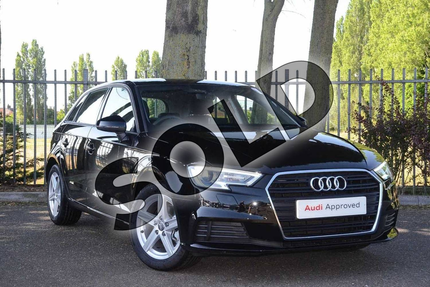 2019 Audi A3 Sportback 30 TFSI 116 SE Technik 5dr in Brilliant Black at Coventry Audi
